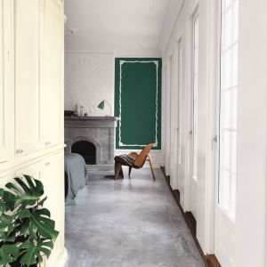 Flügger Flutex to wysokiej jakości farba o doskonałym kryciu, polecana do ścian i sufitów o głębokomatowym połysku. Fot. Flügger