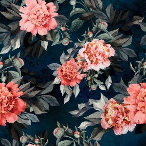 Fototapeta winylowa Kwiaty – przeskalowane motywy kwiatowe na ciemnym tle to absolutny hit. Fot. Pixers