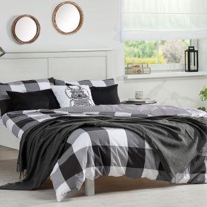 Sposoby na jesienną sypialnię: Pled Marocco Dark Grey. Fot. Dekoria.pl