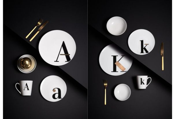 Piękna porcelana - nowa kolekcja z motywem liter