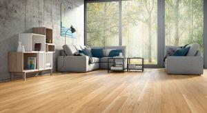 Kolor podłogi potrafi zdominować aranżację wnętrza. Naturalna barwa dębu współgra zarówno z ciepłymi beżami, chłodnymi bielami i błękitami, intensywnymi pomarańczami, jak również ciemnymi zieleniami oraz grafitami.