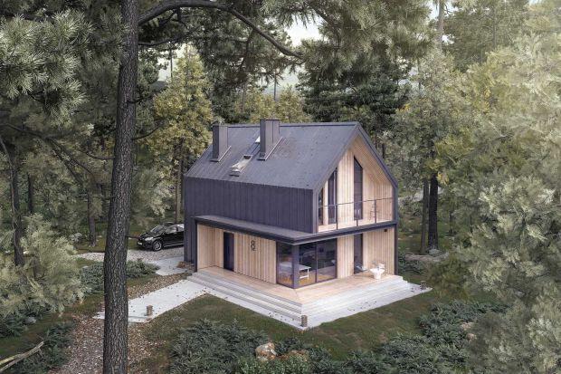 Mały dom z drewna - wyjątkowo zaprojektowane 90 metrów