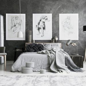 Sypialnia w odcieniach szarości. Fot. Fotolia