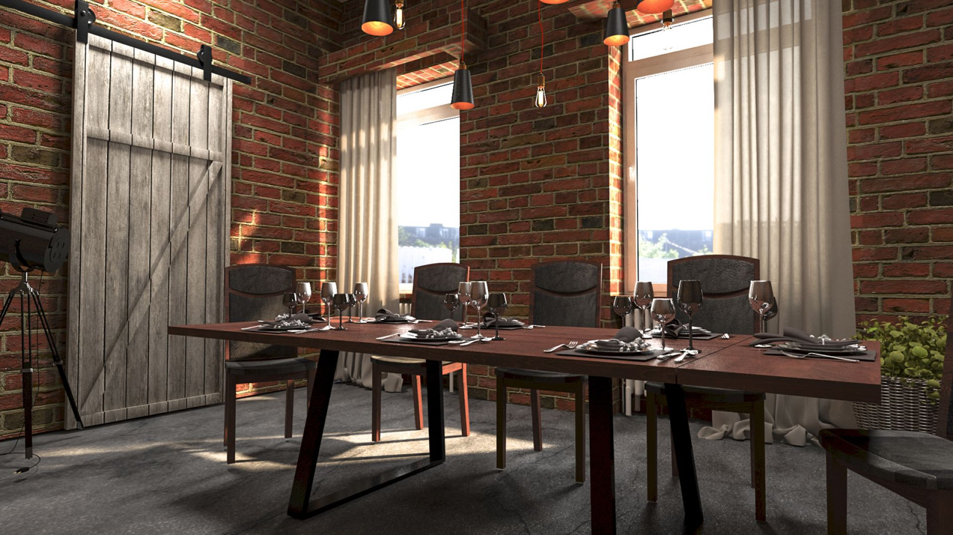 W jadalni króluje jeden mebel – stół. Prosty, ale solidny, o metalowej podstawie i blacie z drewna powinien przypominać trochę stół warsztatowy. Na zdjęciu stół z serii Moka II. Fot. Mebin