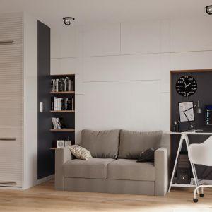 Małe mieszkanie - pomysły na kawalerkę. Projekt: The Space. Fot. The Space