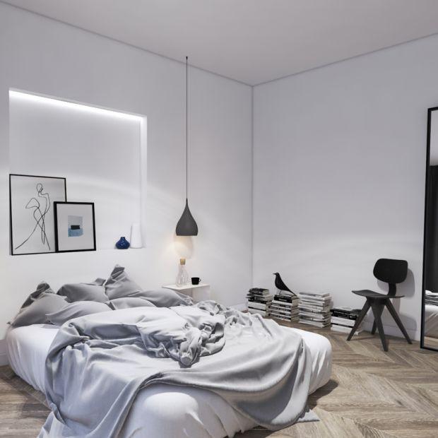 Nowoczesna sypialnia: piękny projekt wnętrza