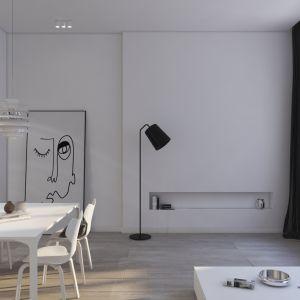 Nowoczesne wnętrze zaprojektowane w bieli i czerni. Projekt: Kosakowski Studio