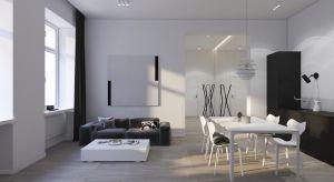 Wnętrze stanowi neutralne tło dla osób znudzonych nadmiarem kolorów i przedmiotów. Poznajcie mieszkanie młodego aktora urządzone w duecie black and white.