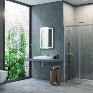 Drzwi przesuwne do wnęki prysznicowej z serii Rols ze szkła 8 mm z dwustronną powłoka Clean Control. Fot. Excellent