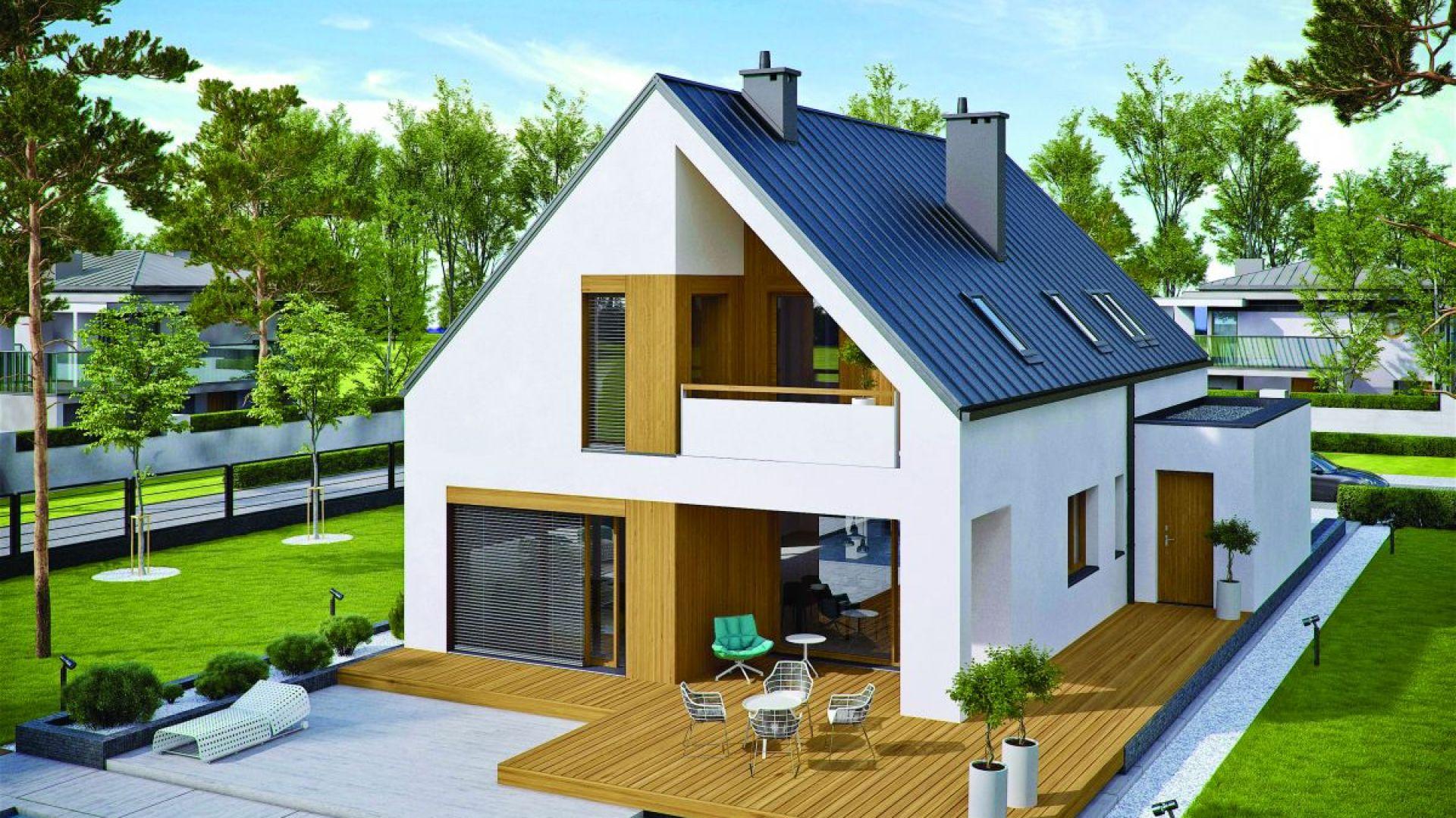 Dzięki prostej konstrukcji projekt jest szybki i tani w budowie, a ponadto bardzo ciepły oraz ekonomiczny w utrzymaniu. Projekt: arch. Artur Wójciak. Fot. Pracownia Projektowa Archipelag
