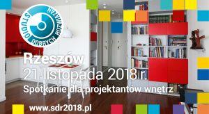 21 listopada Studio Dobrych Rozwiązań zawita do stolicy Podkarpacia. Będzie to ostatnie w tym roku spotkanie pod znakiem SDR. Serdecznie zapraszamy architektów oraz projektantów z Rzeszowa i okolic po rzetelną porcję informacji o najnowszych trenda