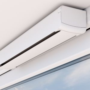Nawiewniki antysmogowe – małe urządzenia z wymiennymi filtrami montowane na oknie lub w elewacji, które zatrzymują pył, zanim dostanie się on do mieszkania. Fot. Oknoplast