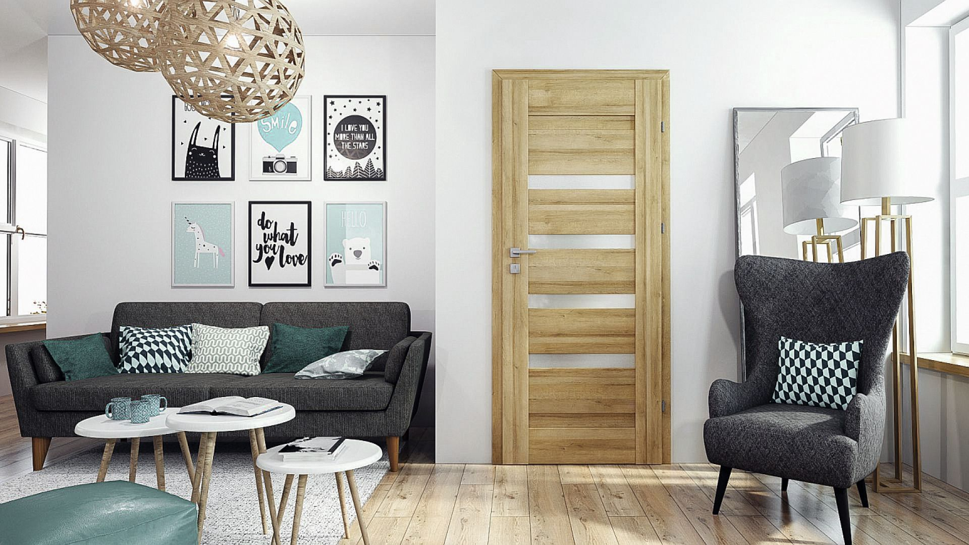 Drzwi Carmen firmy RuckZuck z tradycyjnymi przeszkleniami dedykowane są do wnętrz w klasycznym stylu. Oryginalny dekor w połączeniu z trwałą konstrukcją skrzydła wydobędą z pomieszczenia jego subtelny charakter. Fot. RuckZuck