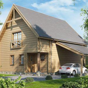 Projekt domu z wiatą D121. Fot. Artinex