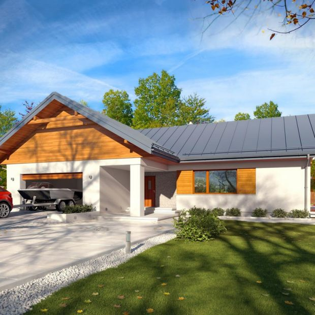 Parterowy dom: zobacz ciekawy projekt i wnętrza