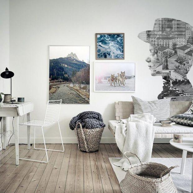 Zimowe trendy we wnętrzach - pomysły na ściany