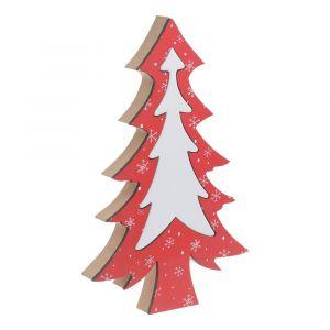 Dobrze dobrane dekoracje rozpalą w nas ciepłe, świąteczne emocje i sprawią, że pokój dzienny nabierze nowego charakteru. Świąteczna dekoracja drewniana w kształcie choinki; cena: 24 zł. Fot. Bonami.pl