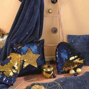 Aranżacje na Boże Narodzenie w kolorach granatu i złota. Fot. KiK