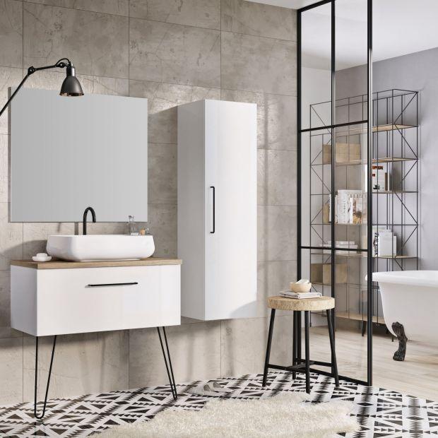 Nowoczesna łazienka - 15 pomysłów na szafki