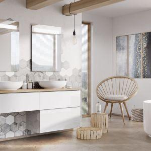 Aranżacja łazienki - nowoczesne meble łazienkowe.  Kolekcja  Kwadro. Fot. Elita