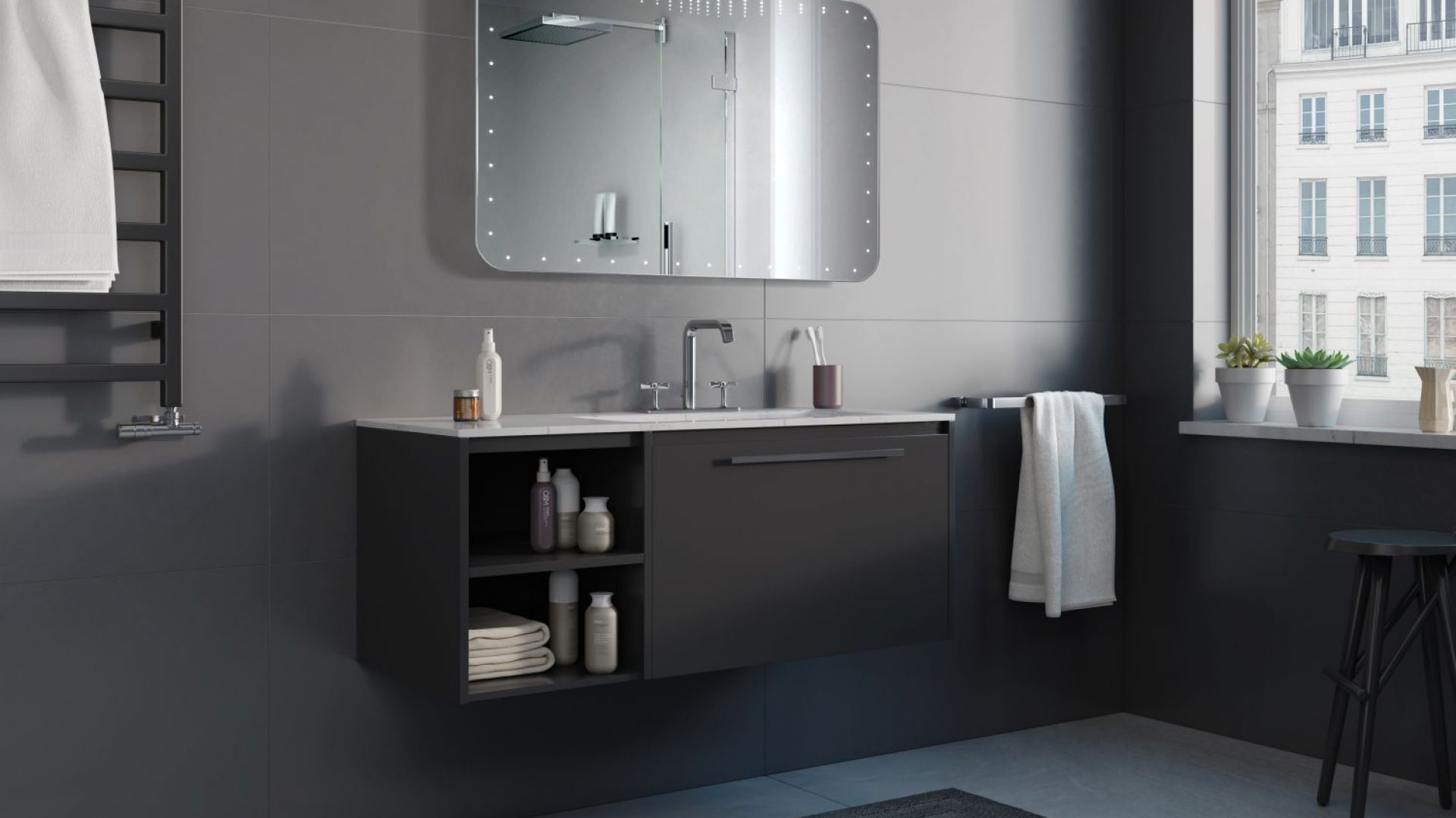 Nowoczesna łazienka 15 Pomysłów Na Szafki