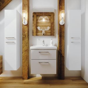 Aranżacja łazienki - nowoczesne meble łazienkowe. Fot. Defra