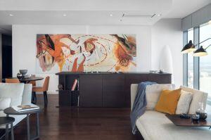 Apartament w warszawskim wieżowcu Cosmopolitan. Projekt: Katarzyna Kraszewska. Fot. Tom Kurek