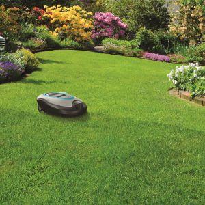 Jeśli zastosujemy autonomiczną kosiarkę i zaprogramujemy ją w ten sposób, by zadbała o nasz trawnik, w czasie gdy będziemy w pracy, zdobędziemy trochę więcej czasu dla siebie i oszczędzimy nieco hałasu sobie i sąsiadom. Fot. FIBARO