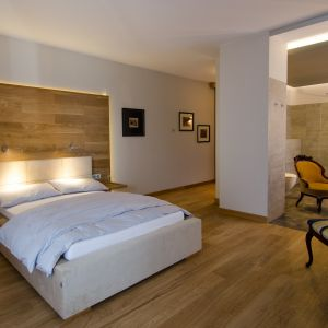Drewno w sypialni. Fot. Kaczkan