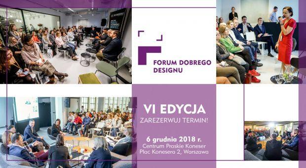 Forum Dobrego Designu 2018 - to już 6 grudnia. Sprawdź, co w programie!
