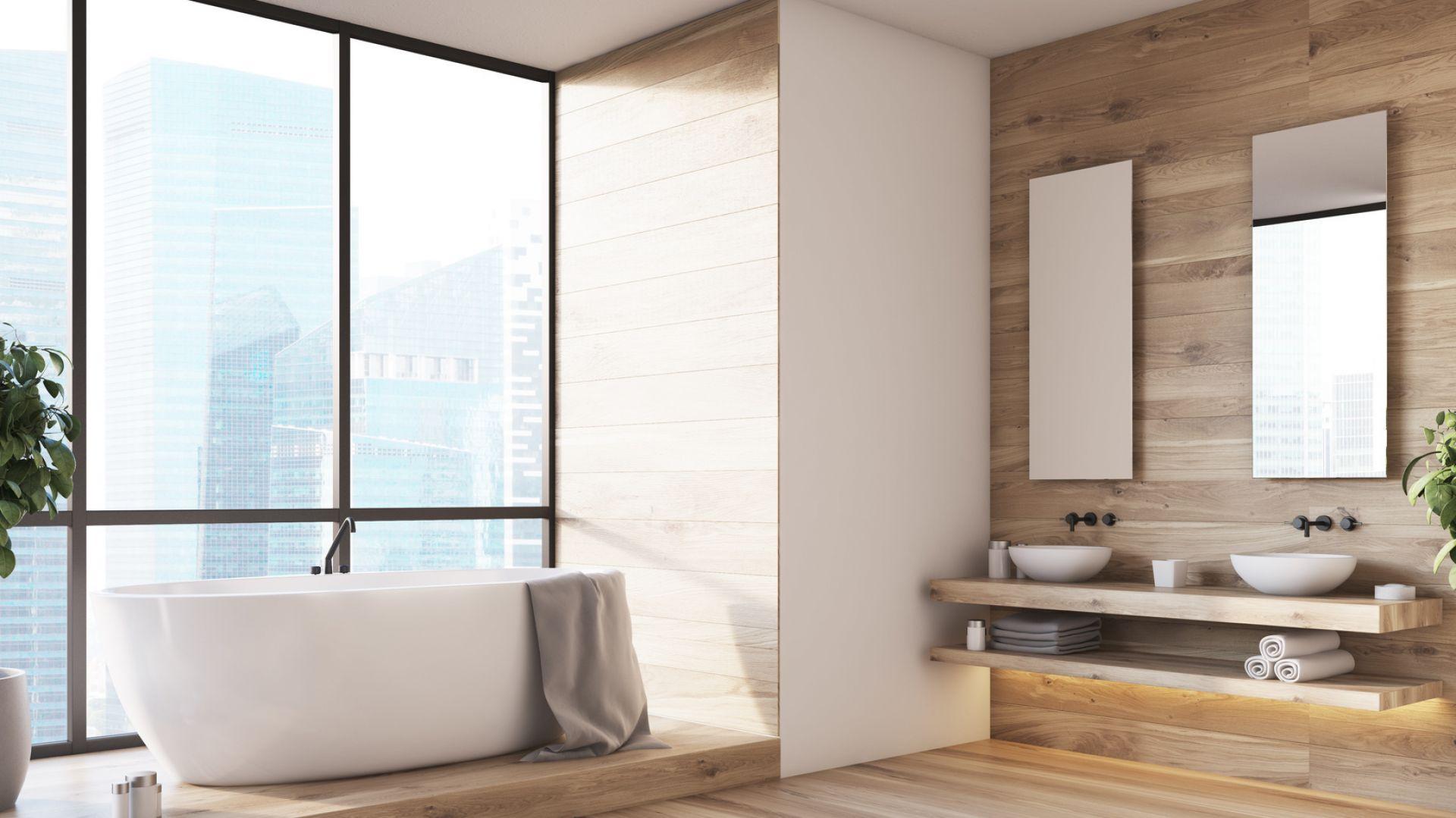 Drewno w łazience. Fot. Bondex