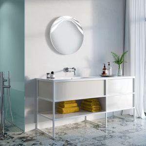Lustro łazienkowe Kalipso LED to nietuzinkowa propozycja dla wielbicieli nowoczesnego designu. Fot. Ruke