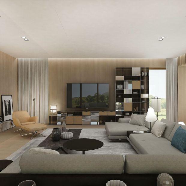 Dom w Konstancinie: wnętrza tworzone z rozmachem i minimalistycznym zacięciem