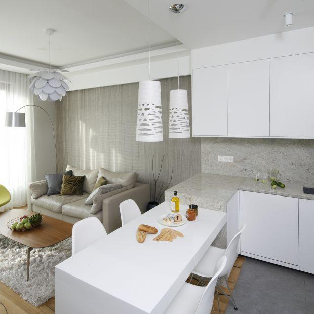 Salon z kuchnią i jadalnią. 20 wnętrz z polskich domów