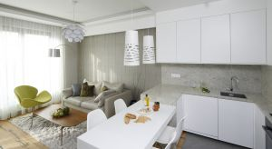 Salon otwarty na kuchnię i jadalnię to najczęściej spotykane rozwiązanie w polskich wnętrzach. Sprawdzi się ono zarówno w dużym domu, jak i w niewielkiej kawalerce.