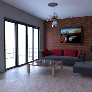 Pomysł na ścianę wykończona tynkiem - Efekt Cegły. Fot. Atlas