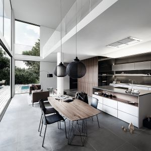 Pure – luksusowa kuchnia to minimalistyczny design połączony z wysokiej jakości rozwiązaniami, gwarantującymi niezwykły komfort podczas wykonywania codziennych prac w kuchni.