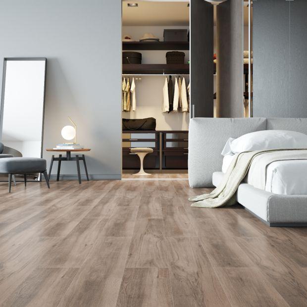 Modna sypialnia - wybierz gres na podłogę