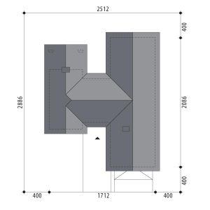 Usytuowanie domu na dziełce. Dom Dakota IV. Projekt: Marcin Abramowicz, Marta Zaperty-Adamek. Fot. Dobre Domy