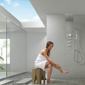 Termostatyczna centralka elektronicznej baterii Shower Technology może być umieszczona w odległości nawet 10 m od kabiny prysznicowej, co daje duże możliwości w projektowaniu łazienki. Fot. Tres