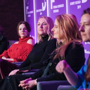Kobiety w designie. Od lewej: Justyna Smolec, Krystyna Łuczak-Surówka, Katarzyna Kraszewska, Magdalena Gruna i Irina Grishina.