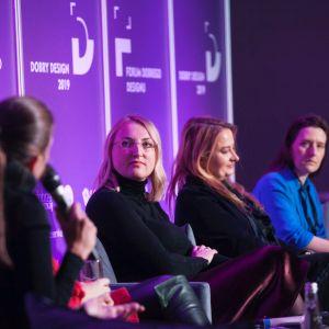 Kobiety w designie.  Od lewej: Justyna Smolec, Katarzyna Kraszewska, Magdalena Gruna i Irina Grishina.