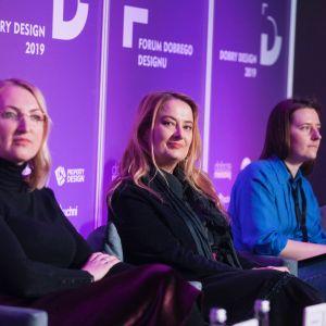Kobiety w designie. Od lewej: Katarzyna Kraszewska, Magdalena Gruna i Irina Grishina.
