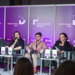 Forum Dobrego Designu. Dyskusja pt. Więcej niż biurka do wynajęcia. Fot. Marek Misiurewicz/PTWP