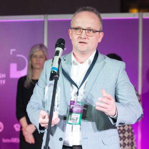 Dobry Design 2019: Tomasz Kowalewski - regionalny menadżer sprzedaży firmy EZVIZ. Fot. Paweł Pawłowski