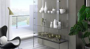 Szklane drzwiczki w witrynach stawiają wysokie wymagania: muszą być zamocowane na specjalnych zawiasach, które utrzymają cienką taflę i podobnie jak w klasycznych meblach z drewna - chcą się cicho i delikatnie domykać.