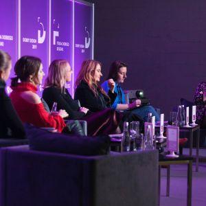Sesja dyskusyjna poświęcona dokonaniom kobiet w designie i architekturze. Fot. Paweł Pawłowski/Marek Misiurewicz/PTWP