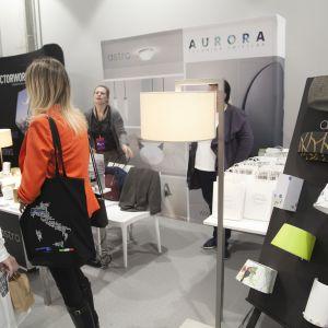 Stoisko marki Astro Lighting - firma Aurora Technika Świetlna. Fot. Paweł Pawłowski/PTWP