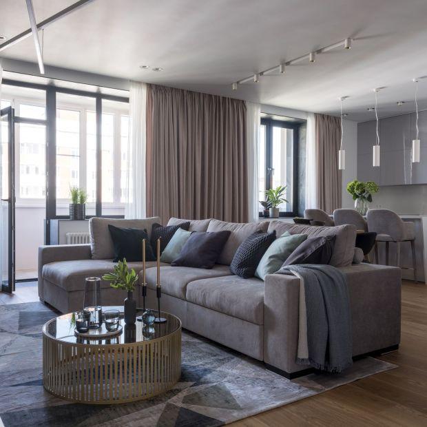 Nowoczesny apartament w modnych odcieniach szarości