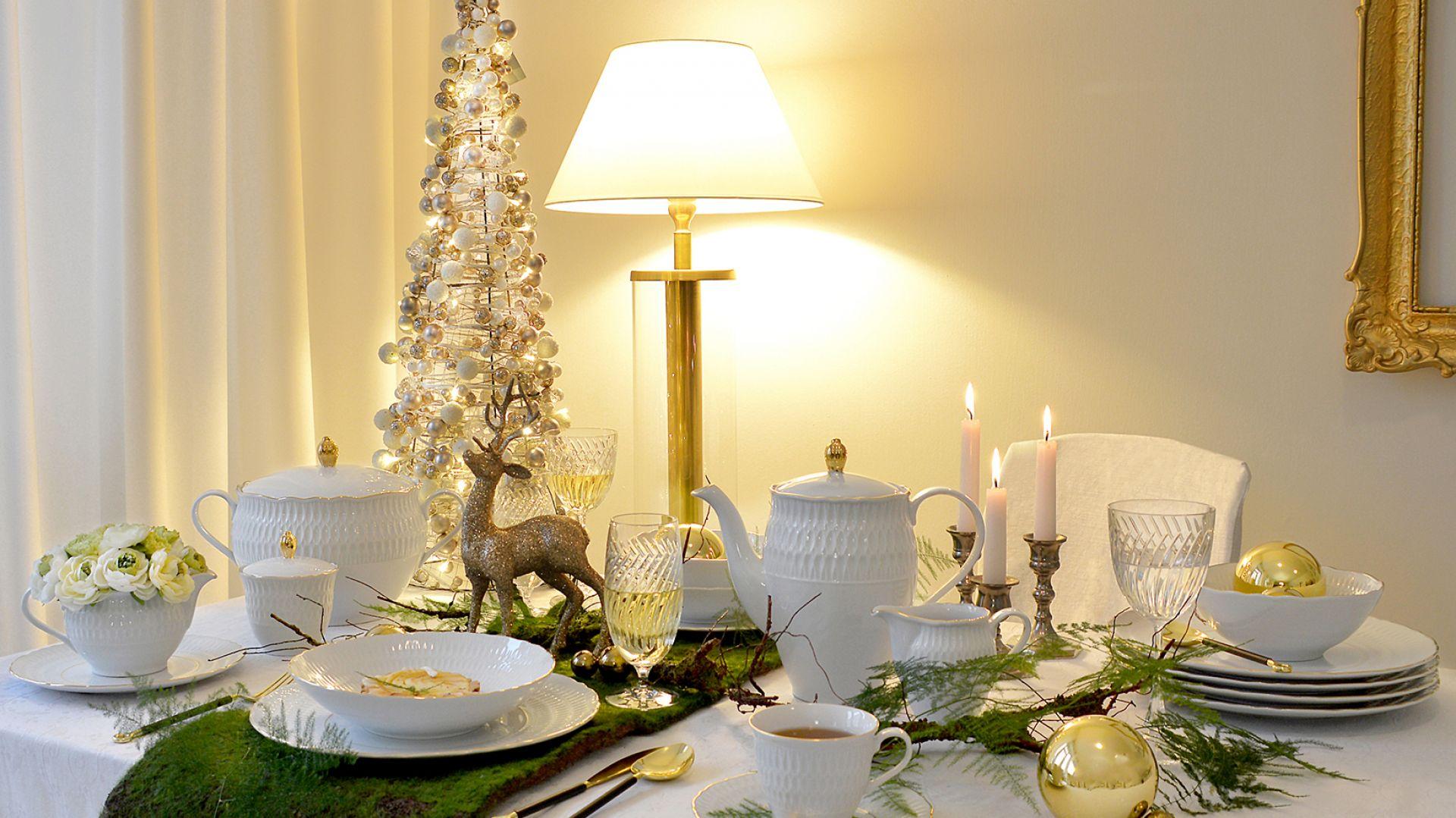 Zastawa Sofia nada świątecznej aranżacji stołu wyjątkowy urok. Fot. Ćmielów